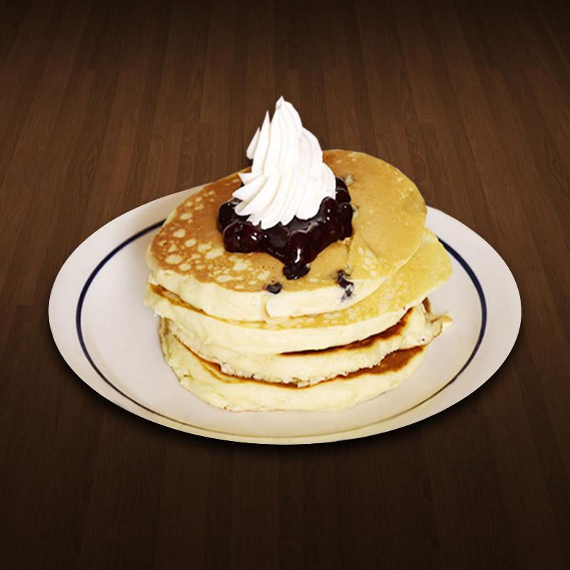 Blueberry Double Pancakes