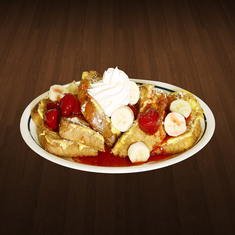Banana Strawberry French Toast