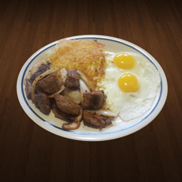 2.Steak Cube Breakfast