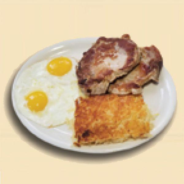 6.Pork Chop Breakfast